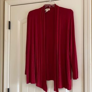 Red Cardigan (Dark brick red)